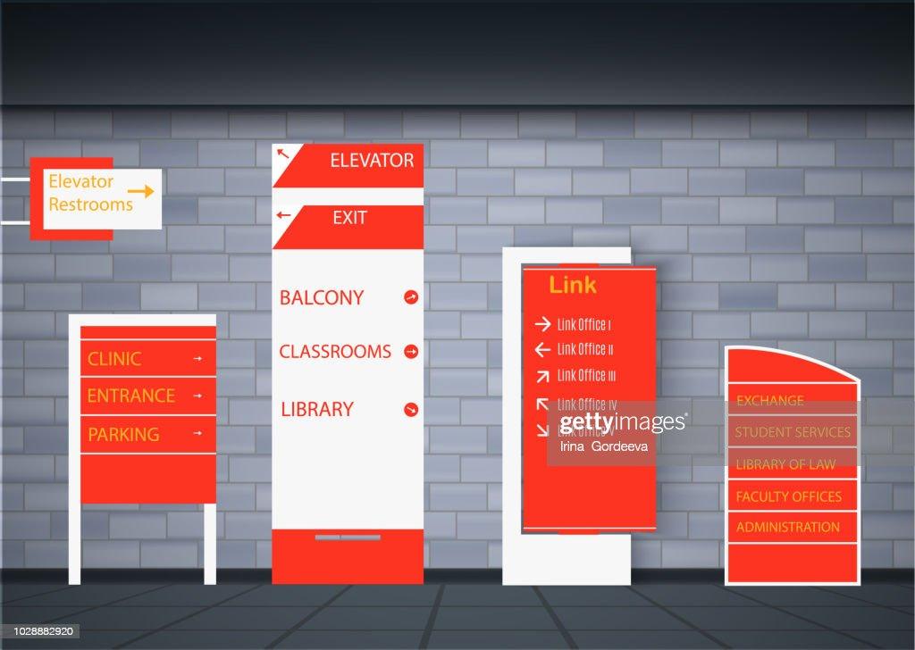 Set signage design