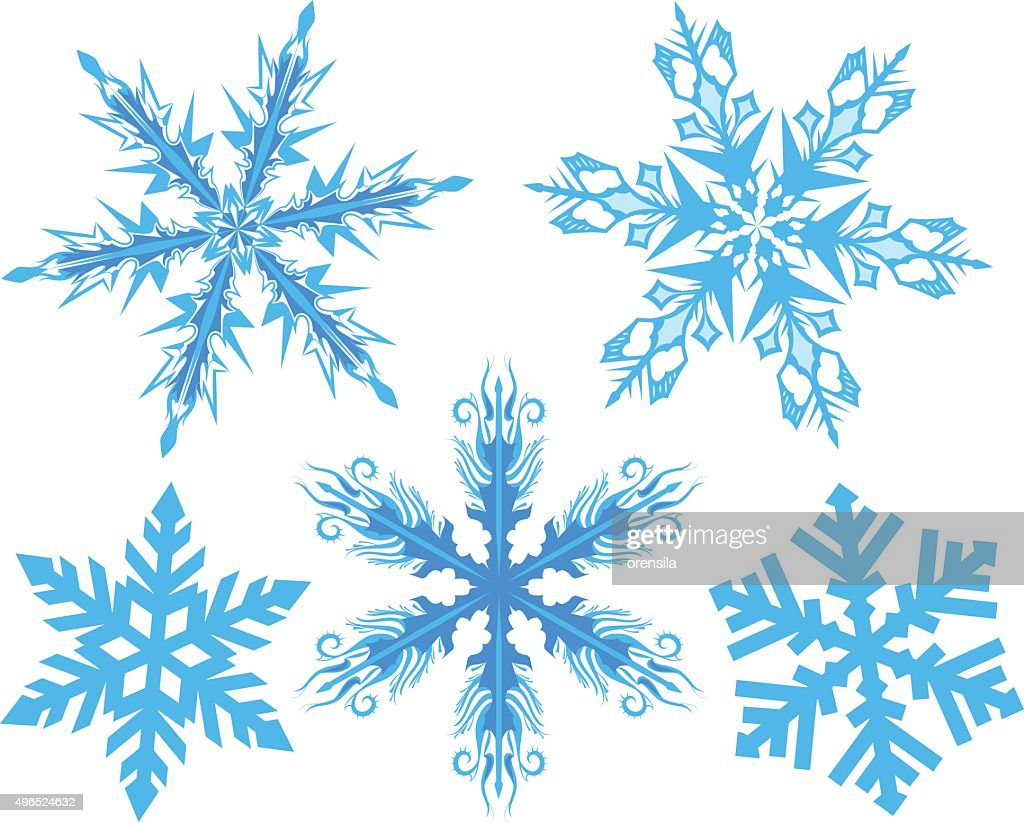 Set Snowflake. Flake of snow