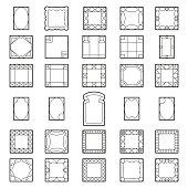 Set square frames