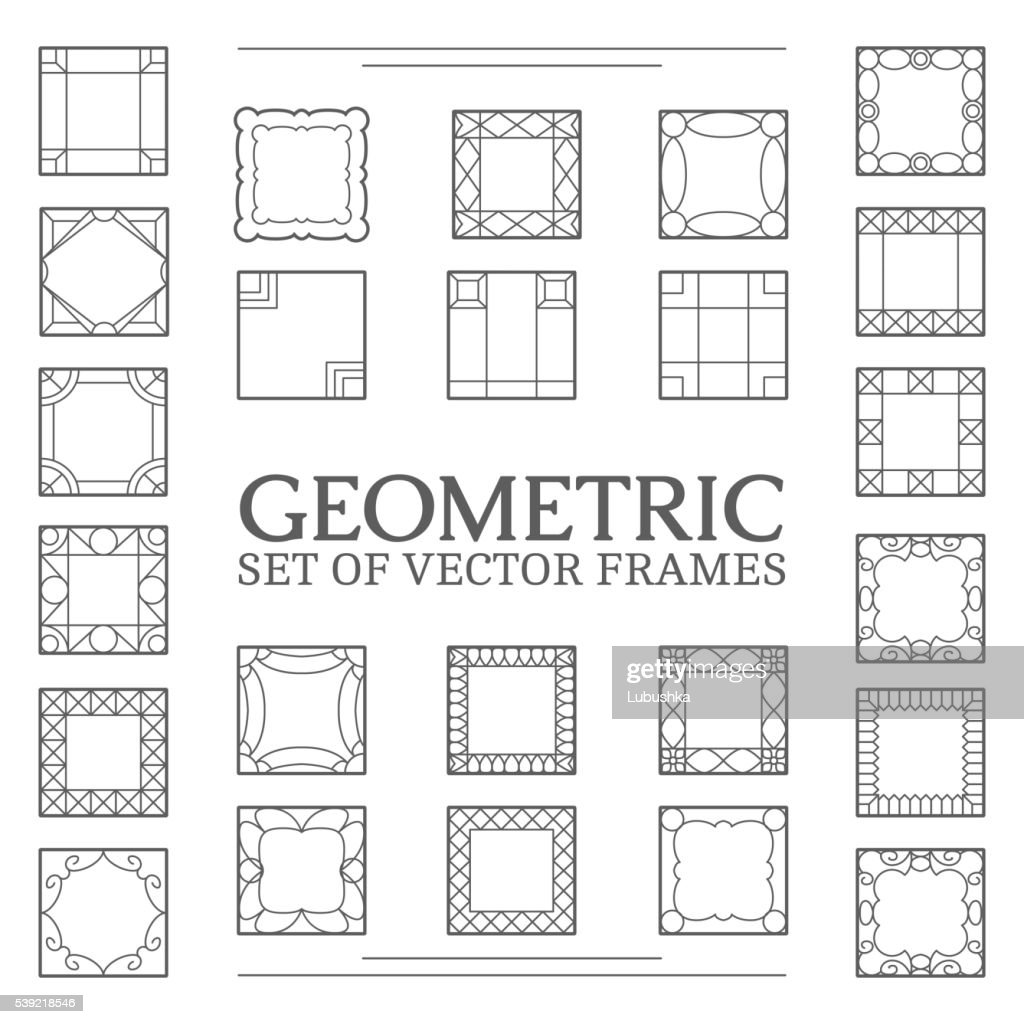 Set square frames