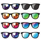 set sunglasses. vector illustration
