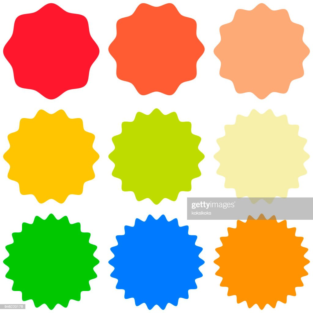 Set template sunburst, shapes badges vector starburst promo  burst, for design sticker promo burst