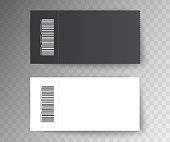 Set ticket template. isolated on a transparent background. Abstract graphic element. Vector illustration