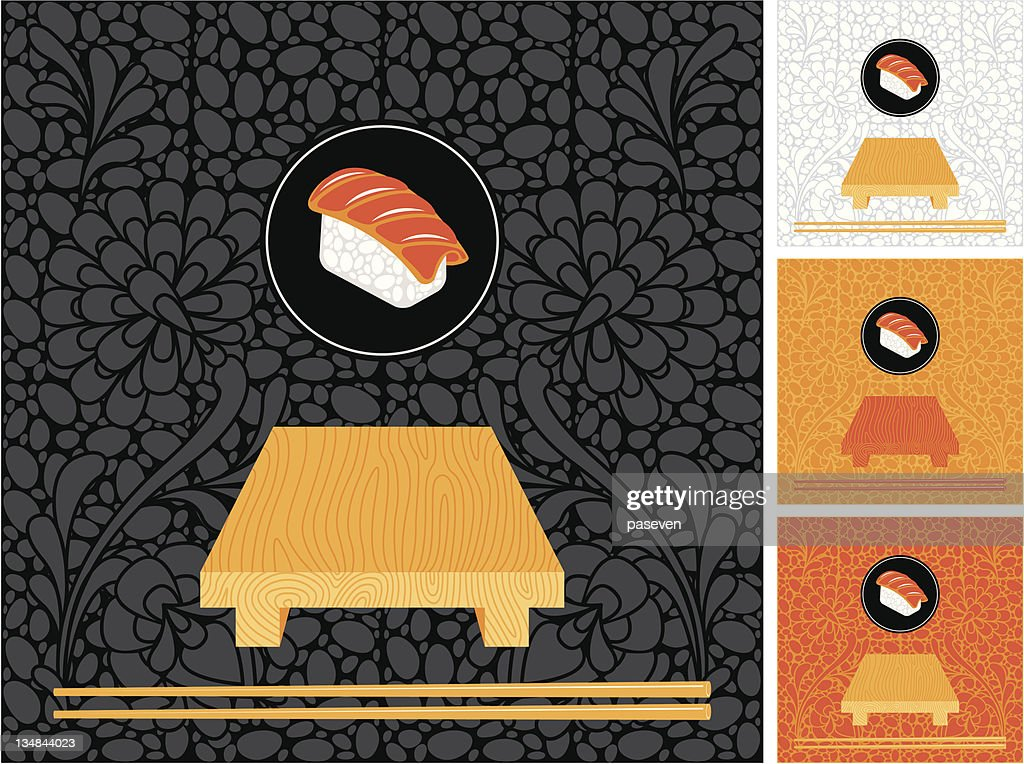 set to backdrops of Japanese cuisine