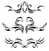 Set Tribal Tattoos