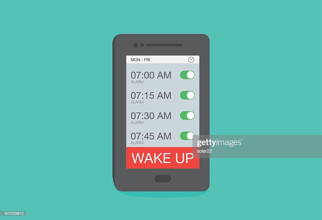 Set up multiple alarm on smart phone