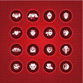 Set valentine's day icons, vector symbols