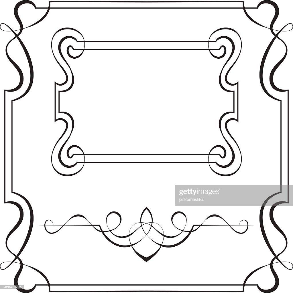 Set vector frames for design