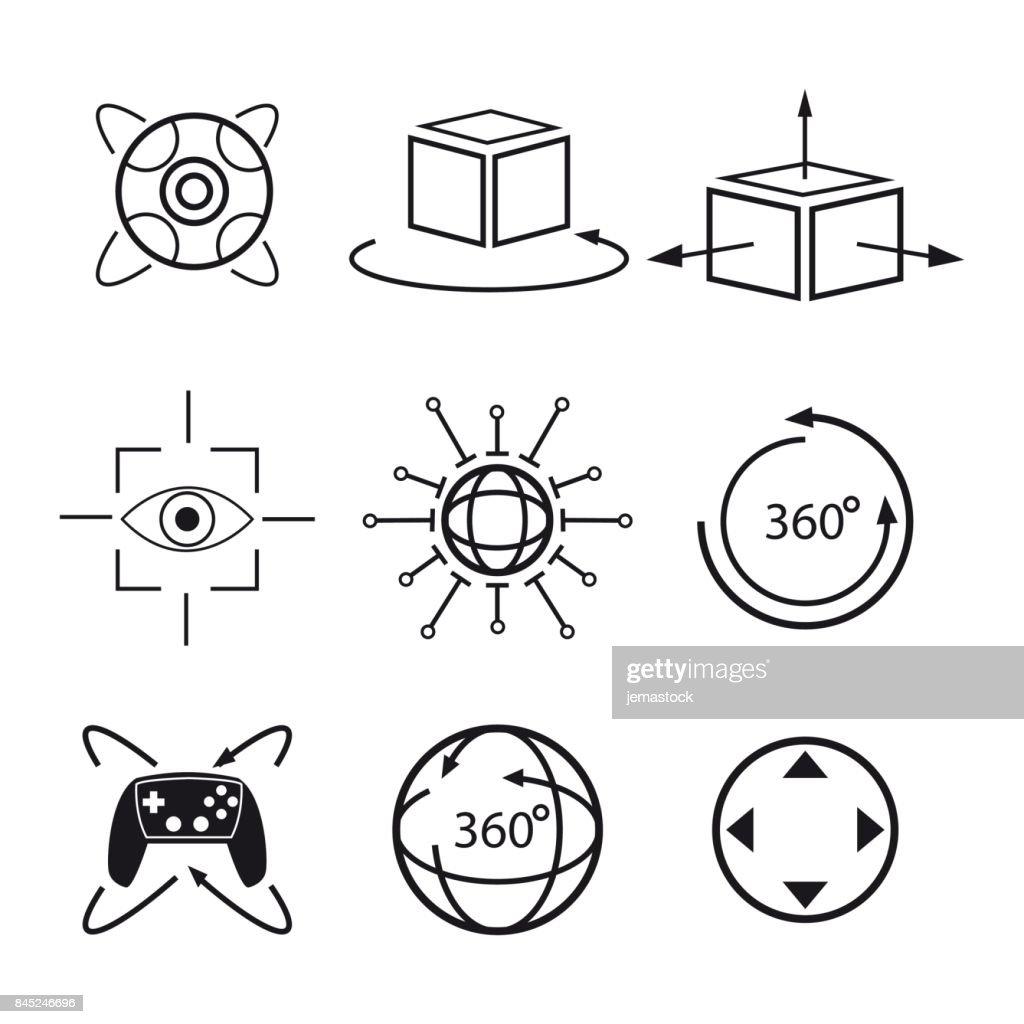 set virtual reality vision digital degree 3d technology