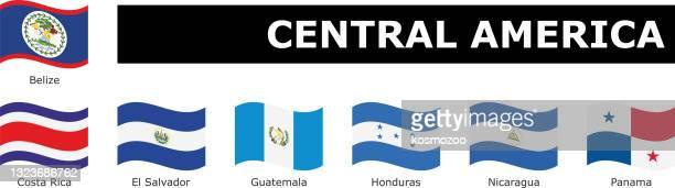名前で波状フラグ中央アメリカを設定 - エルサルバドル国旗点のイラスト素材/クリップアート素材/マンガ素材/アイコン素材
