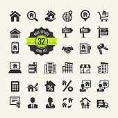 Set web icons. Real Estate, property, realtor