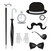 set with bowler hat