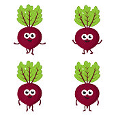 set with cartoon beets