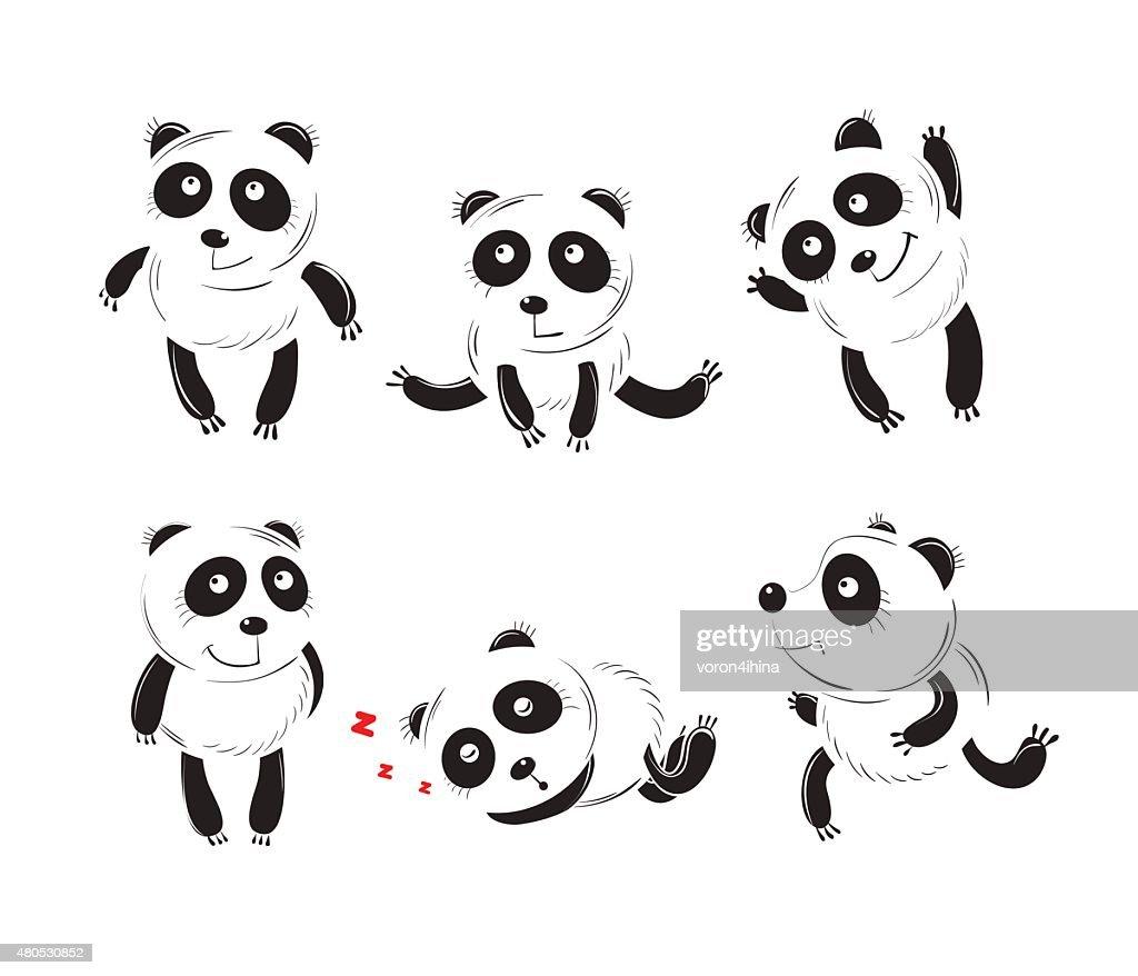 Set with pandas. : Vectorkunst