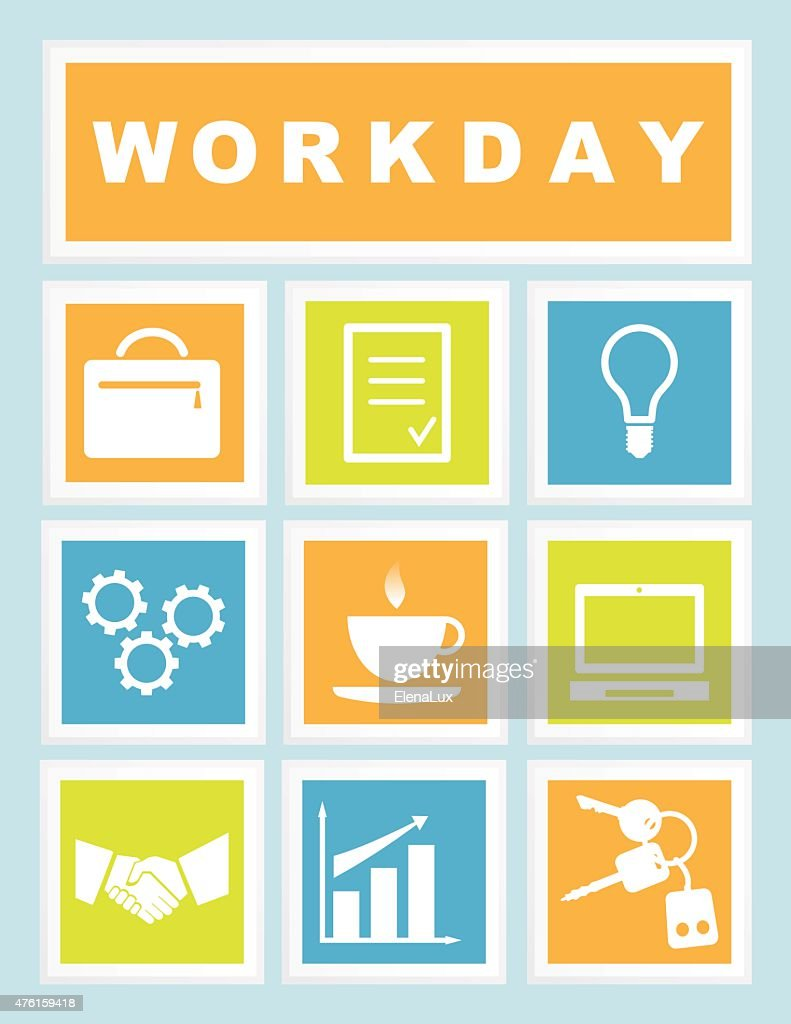 Set  Workday Icons