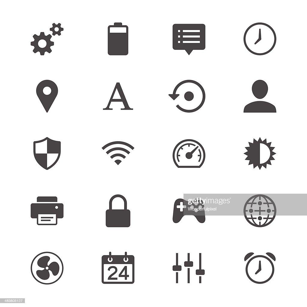 Setting flat icons