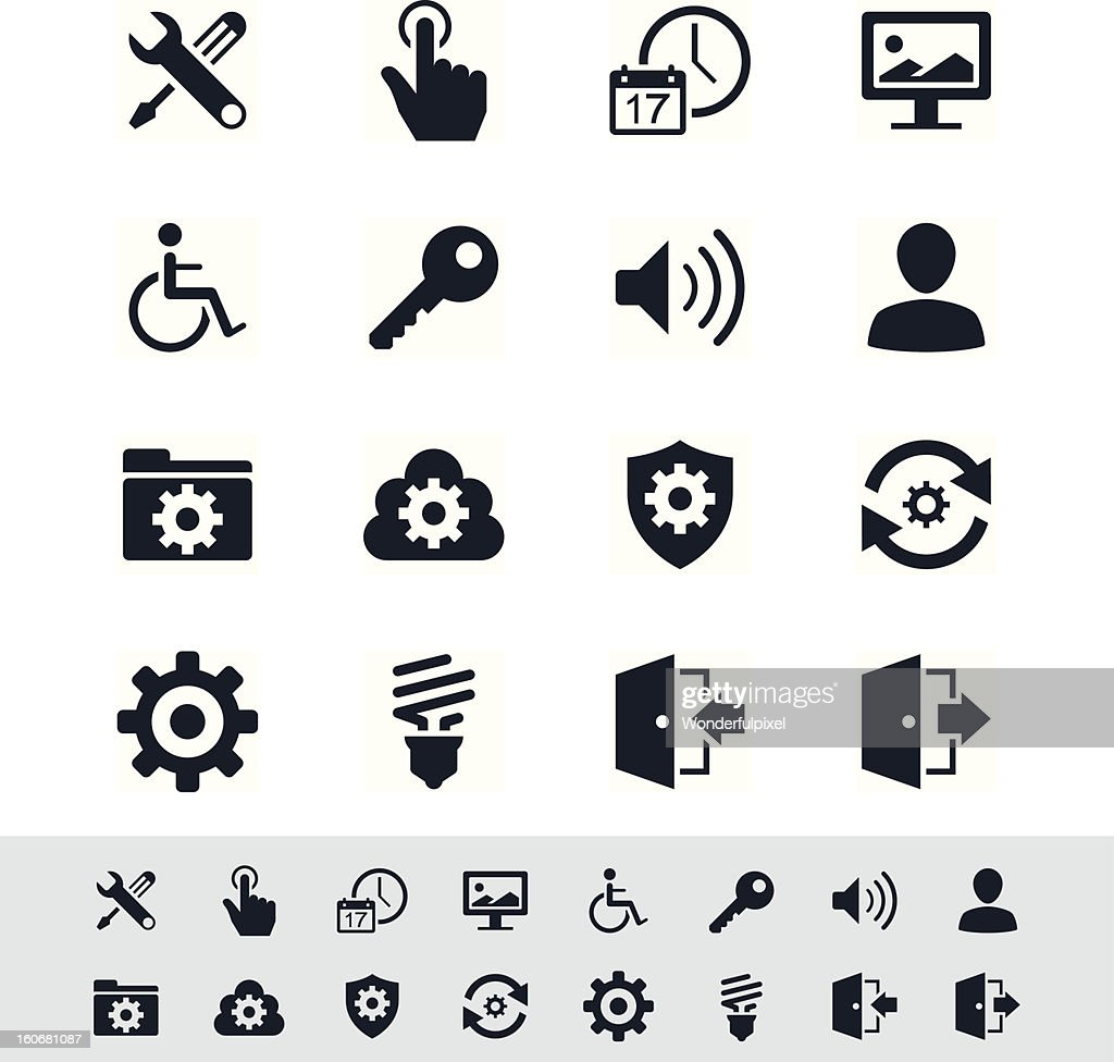Setting icon set - simplicity theme