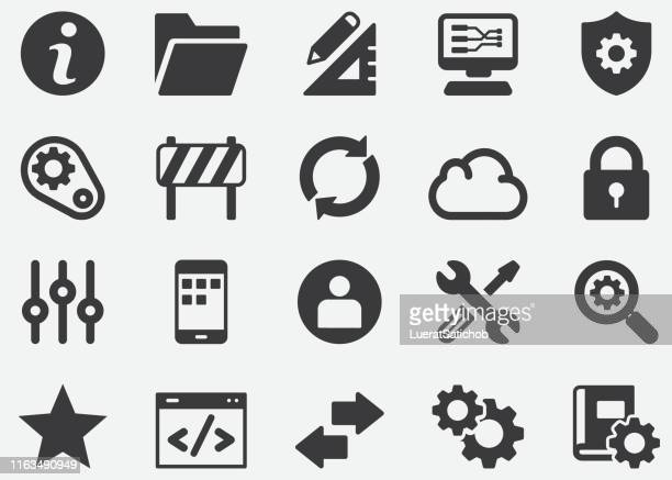 setting silhouette icons - control stock illustrations