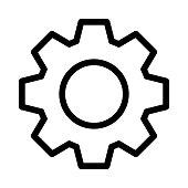 setting Thin Line Vector Icon