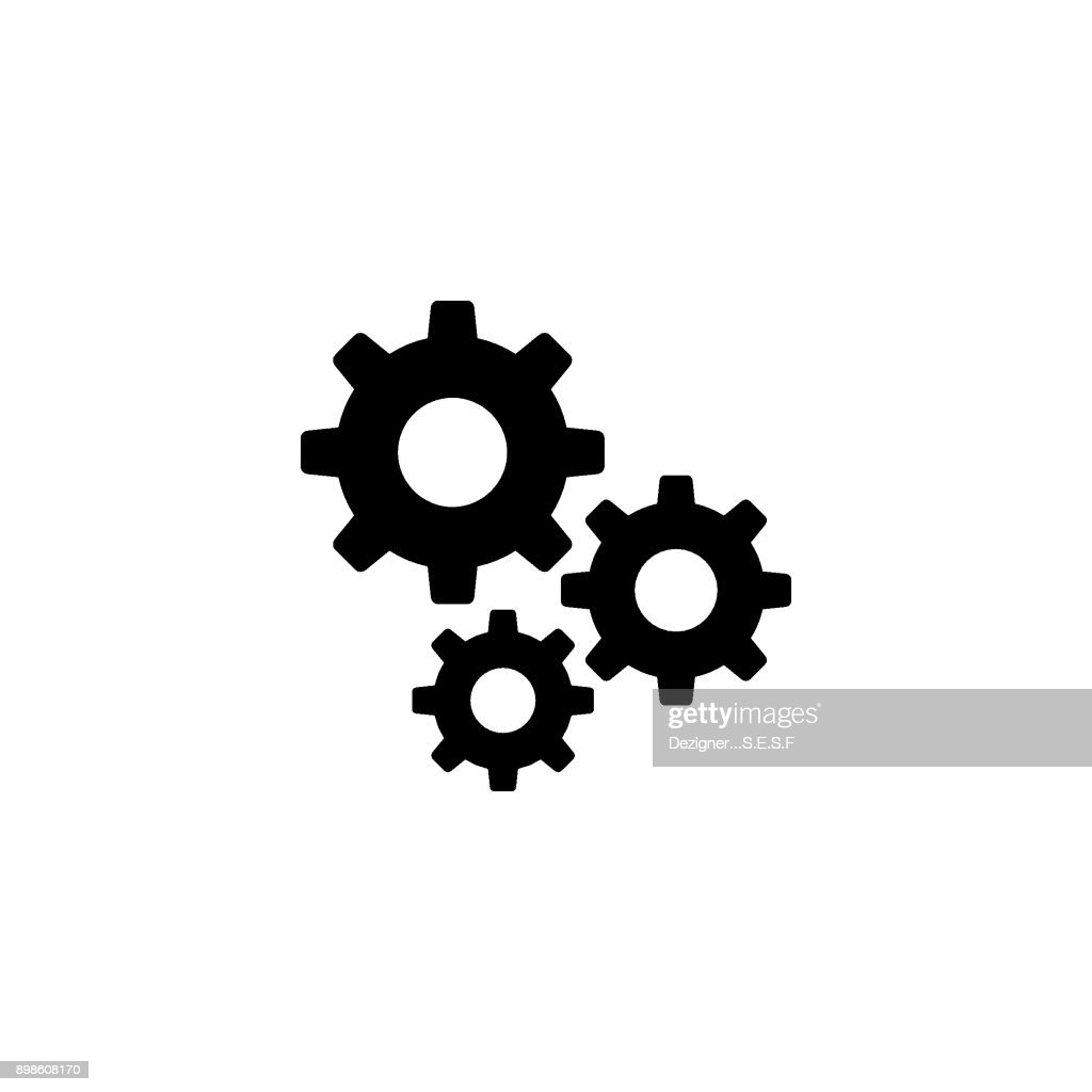 Settings gears vector icon