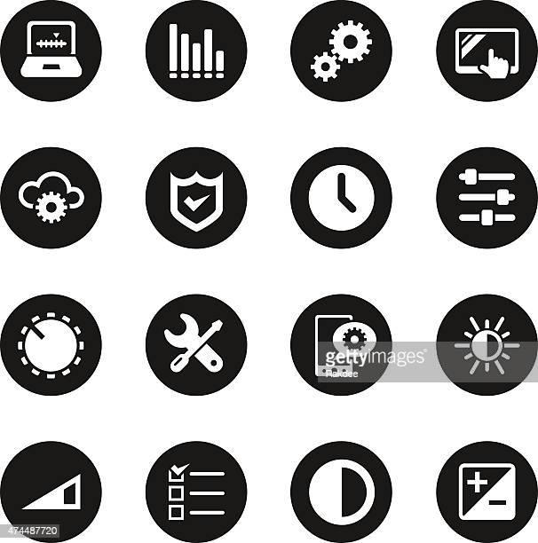 Settings Icons - Black Circle Series
