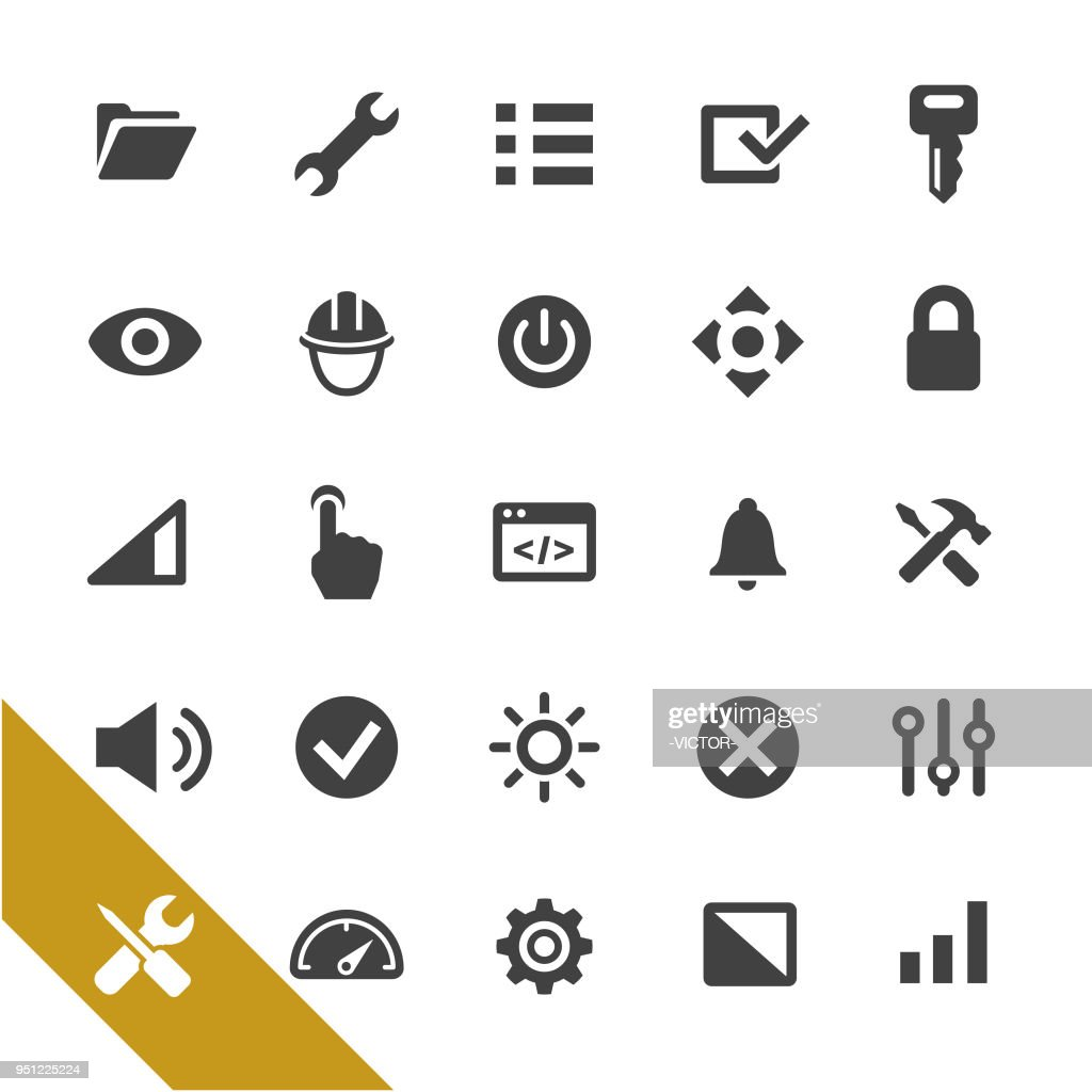 Settings Icons - Select Series : Stock Illustration
