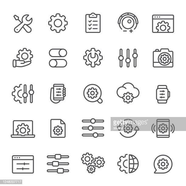 settings icons - customized stock illustrations