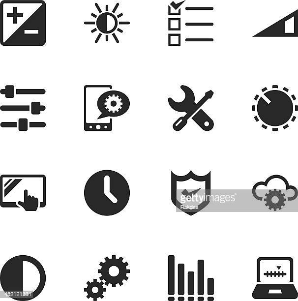 Settings Silhouette Icons