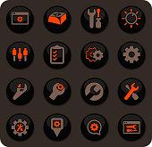 Settins icon set