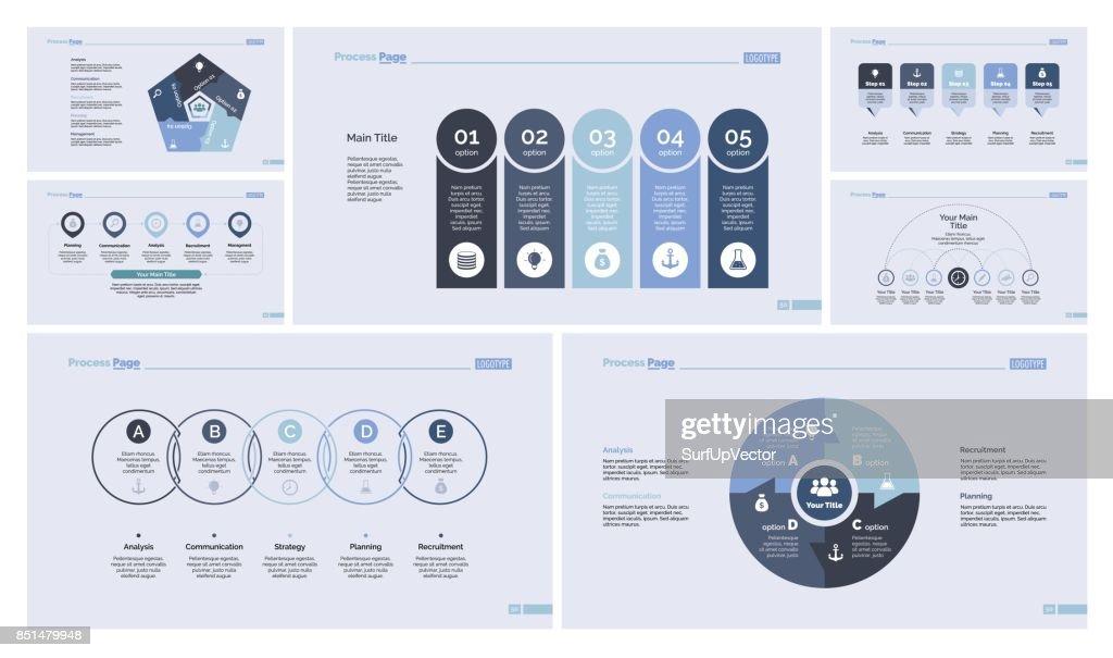 Seven Economics Slide Templates Set