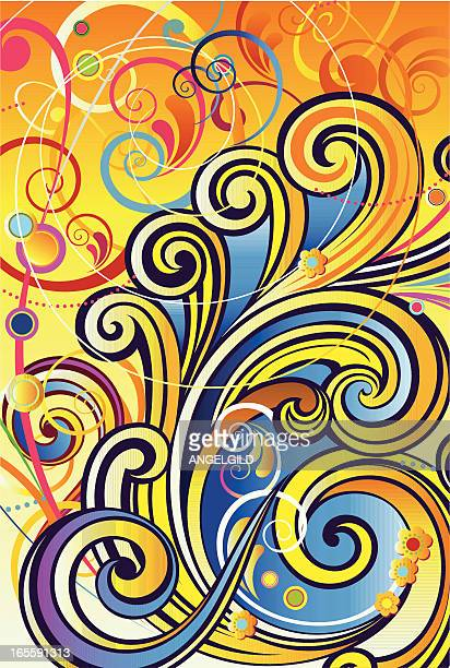 seventies background - stag night stock illustrations, clip art, cartoons, & icons