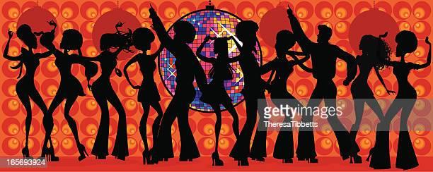 Seventies Disco Silhouette