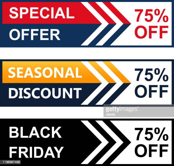 seventy five percent special discount price offer web banner collection - number 75 stock illustrations, clip art, cartoons, & icons