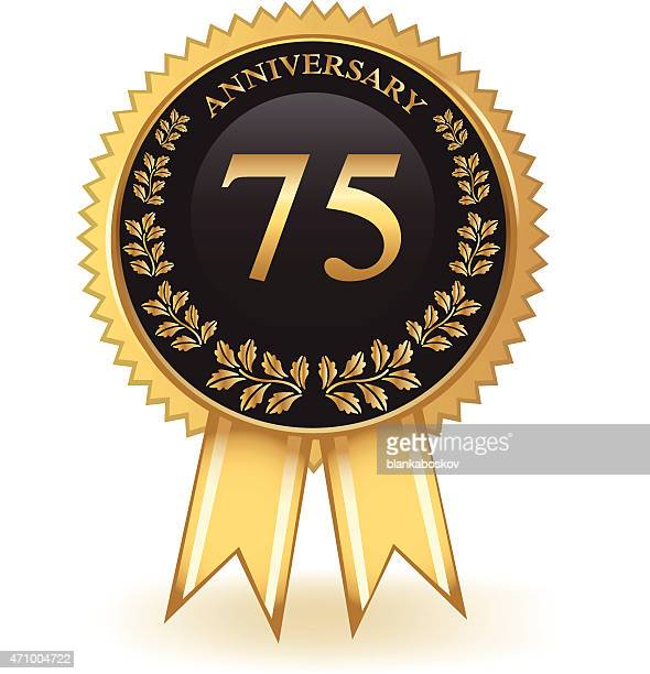 seventy five year anniversary - number 75 stock illustrations, clip art, cartoons, & icons