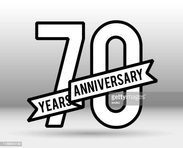 70周年記念 - 70周年点のイラスト素材/クリップアート素材/マンガ素材/アイコン素材