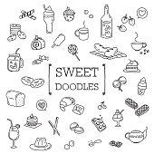 Several dessert doodles.