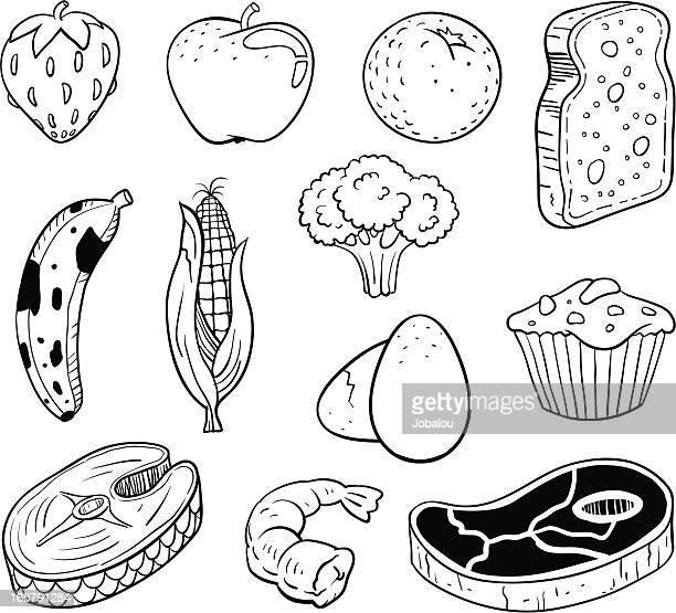 several grocery kitchen - broccoli stock illustrations, clip art, cartoons, & icons
