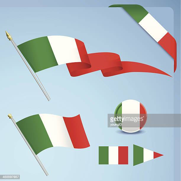 Several items themed with the Italian flag