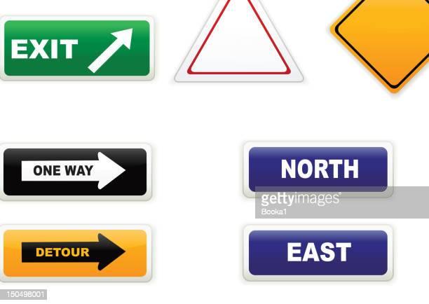 道路標識 - 南点のイラスト素材/クリップアート素材/マンガ素材/アイコン素材