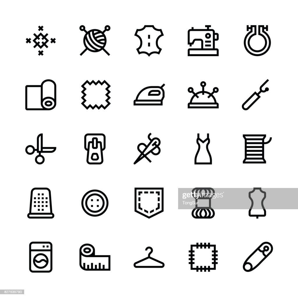 Sewing icons - Medium Line