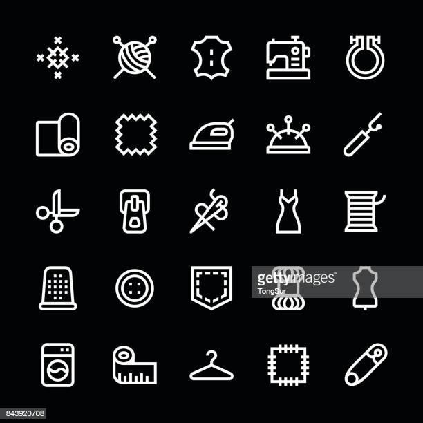 Coser los iconos - línea medio - blanco