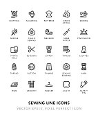 Sewing Line Icons
