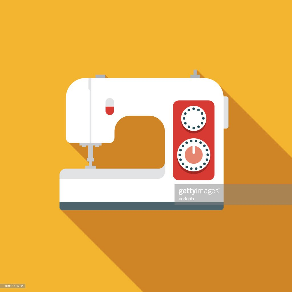 sewing machine flat design appliance icon vector id1081110706