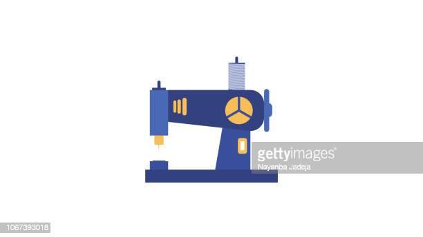ミシン フラット アイコン - 裁縫道具点のイラスト素材/クリップアート素材/マンガ素材/アイコン素材