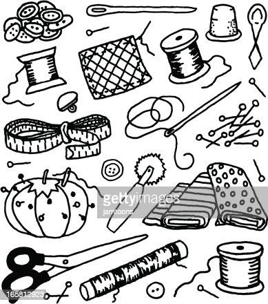 Sewing Needle Vector Art