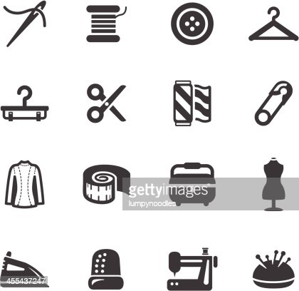 Sewing Symbols Vector Art Getty Images