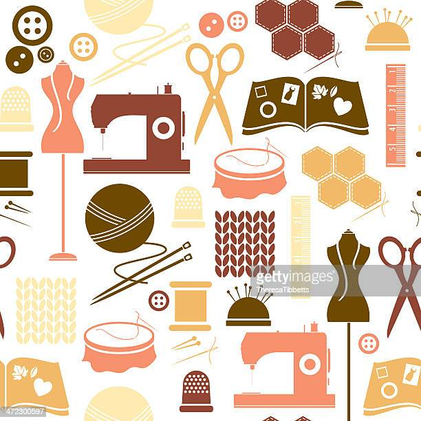 Sewing/Craft Seamless Pattern