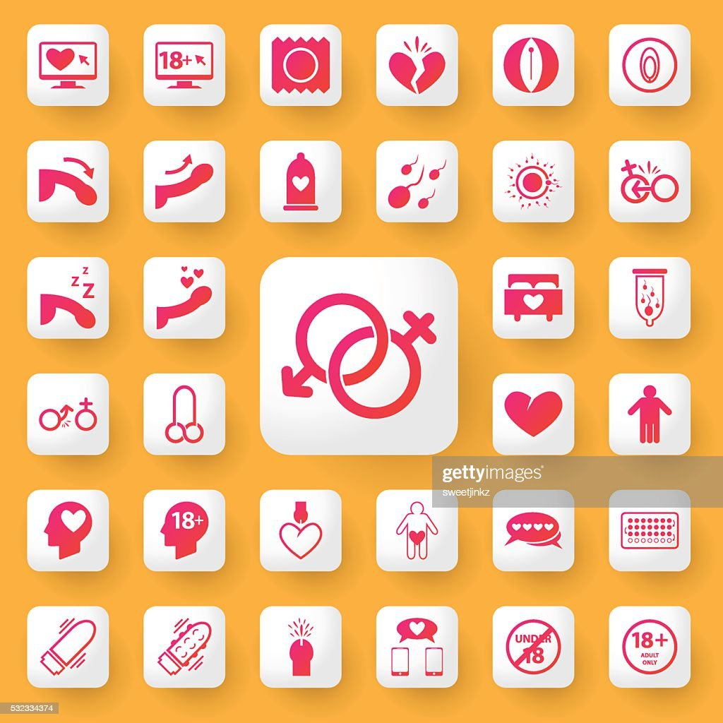 Sex symbol and icon application set. vector illustration.
