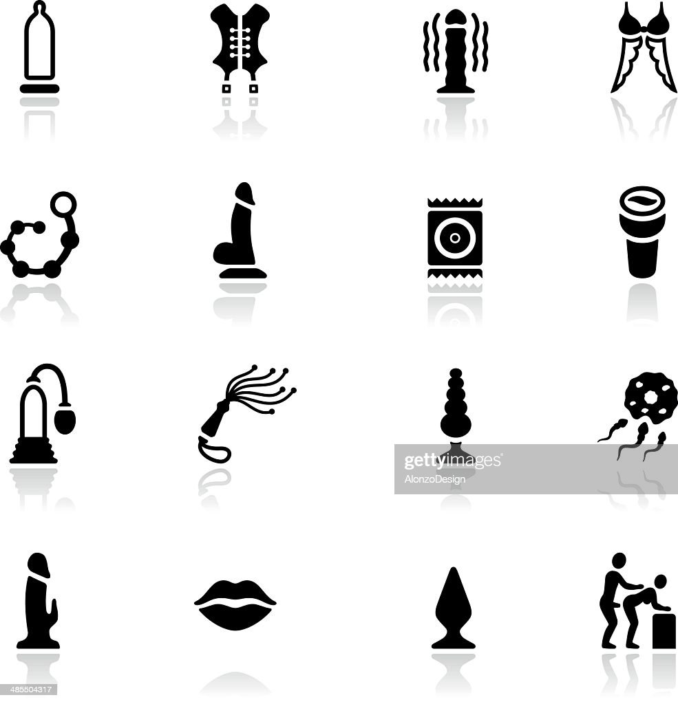 Sex Toy Icon Set : stock illustration