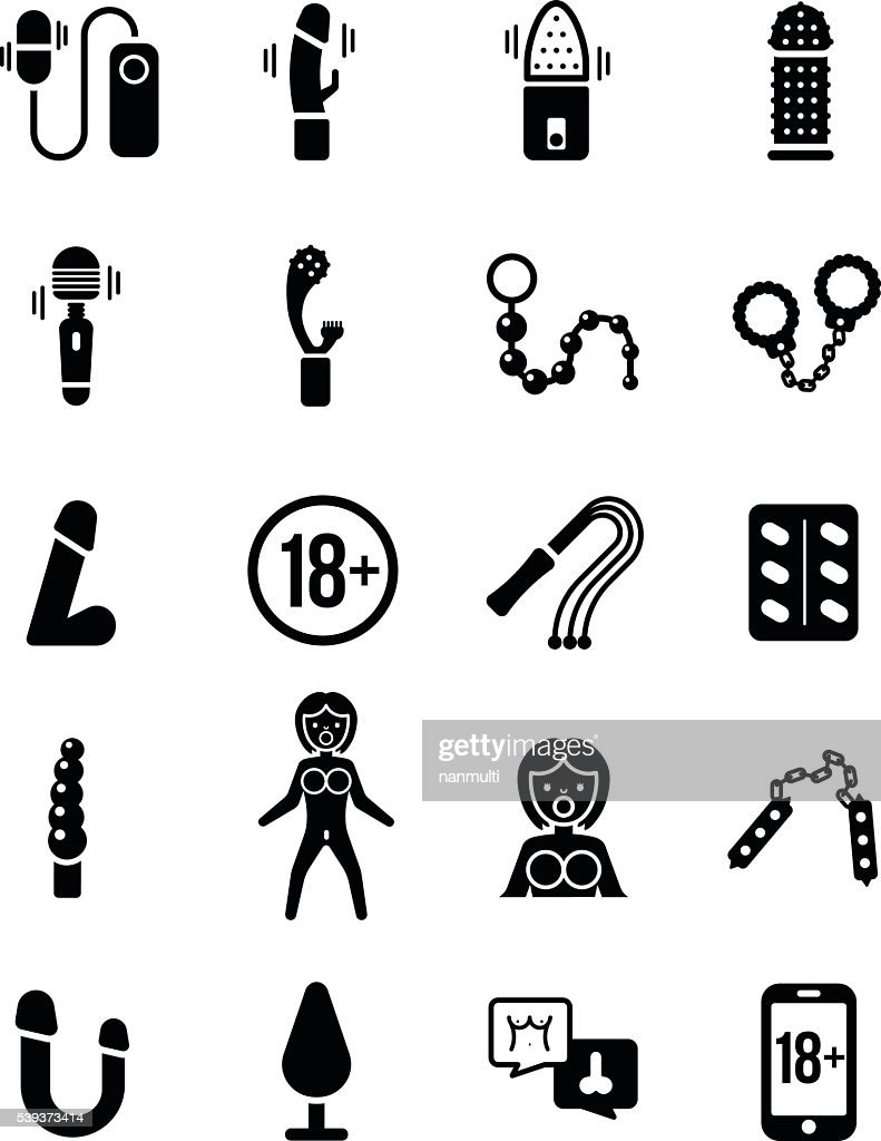 Sex Toy Vector Icon Set